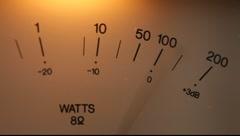 Vintage audio VU meter Stock Footage