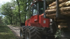 H708009 valmet timber dispatch 02 Stock Footage