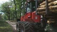 H708009 valmet timber dispatch 02 Stock Footage