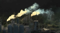 Cement Plant pollution 02 Stock Footage