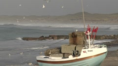 Fisherboat in Denmark 1 Stock Footage
