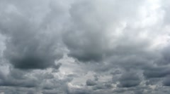Loop of stormy clouds - stock footage