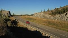 Highway truck traffic - stock footage