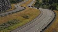 Highway truck traffic Stock Footage