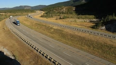 Highway truck traffic Stock Footage