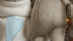 Hand made plush toy Stock Footage