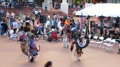 American Indian tribe dance, Portland, USA Stock Footage