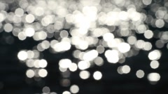 Soft focus sun reflections Stock Footage