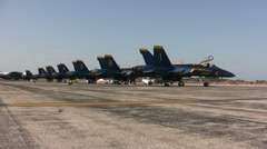 Blue Angels before flight Stock Footage