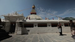 Nepal Prayer Wheels WS 2 Stock Footage