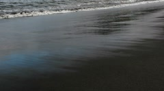 Waves Wash Over Beach Stock Footage