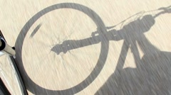 Bicycle Rider Shadow 2296 - stock footage