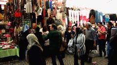 Turkey Istanbul Turkish open air market Stock Footage