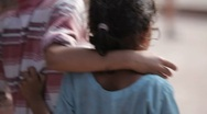 Nepal Street Children LS 2 Stock Footage