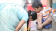 Nepal Street Children2 MS Stock Footage