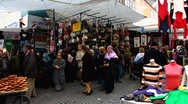 Stock Video Footage of Turkey Istanbul Turkish open air market