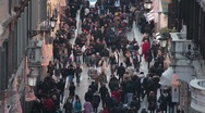 7 footage of People walking in the street Stock Footage