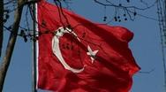 Turkey Istanbul Turkish national flag Stock Footage
