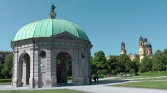 Munich Hofgarten Stock Footage