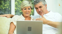 Mature Couple Using Online Video Chat Stock Footage