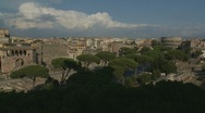 Stock Video Footage of Rome landscape pan, Italy