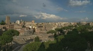 Stock Video Footage of Rome - high up view of the Ancient City