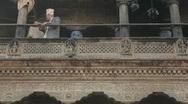 Nepal Street Senior Ppl WS Stock Footage