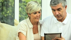Mature Couple Seeking Financial Solutions - stock footage