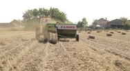 Straw Baling 2 Stock Footage