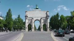 Stock Video Footage of Munich Siegestor