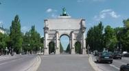 Munich Siegestor Stock Footage