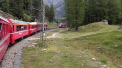 Bernina Express Train Ride, Switzerland Stock Footage