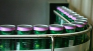 Cans in industryline Stock Footage
