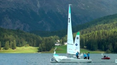 St.Moritz Match Race, Lake St.Moritz, Switzerland Stock Footage