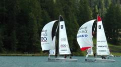 St.Moritz Match Race, Lake St.Moritz, Switzerland Stock Footage
