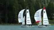 Stock Video Footage of St.Moritz Match Race, Lake St.Moritz, Switzerland