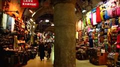 Turkey Istanbul old town Sultanahmet Grand Bazaar Stock Footage