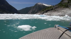 Fjord glacial ice Stock Footage