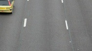 Stock Video Footage of Aerial Motorway Traffic