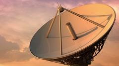 Radiotelescope slowout Stock Footage