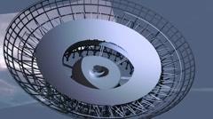 Radiotelescope transform Stock Footage