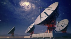 Radiotelescopes tracking Stock Footage