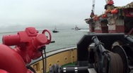Stock Video Footage of Towage vessel-Pipe carrier-sea-0138