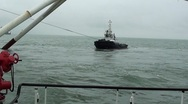 Stock Video Footage of Towage vessel-Pipe carrier-Sea-0103