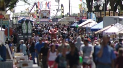 State Fair Crowd III - stock footage