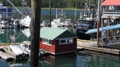 Marina and harbor masters house Stock Footage