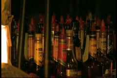 Alcohol Bottles(HD)c Stock Footage
