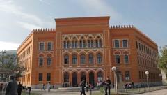 Gymnasium. Mostar. International School Stock Footage