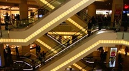 Stock Video Footage of Turkey Istanbul Taksim Beyoglu shopping mall arcade escalator