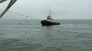 Stock Video Footage of Towage vessel-sea-0105